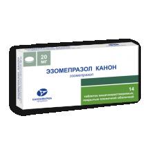 Эзомепразол Канон таблетки 20 мг, 14 шт.