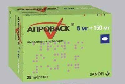 Апроваск таблетки 5мг+150мг, 28 шт.