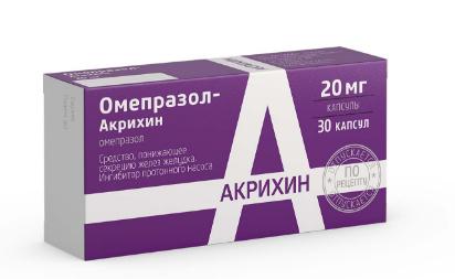 Омепразол-акрихин капсулы 20 мг, 30 шт. Цена в воронеже 60. 50 р.