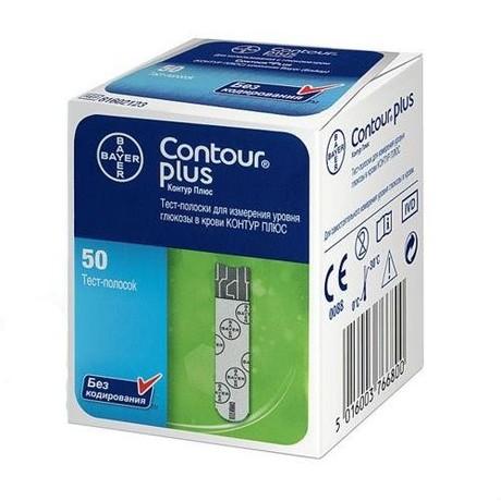 Тест-полоска Contour Plus, 50 шт.
