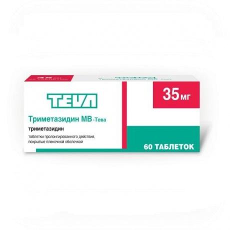Триметазидин МВ-Тева таблетки 35 мг, 60 шт.