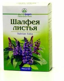 Шалфея листья пачка, 50 г