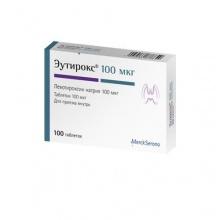 Эутирокс таблетки 100 мкг, 100 шт.