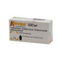 Кеппра таблетки 500 мг, 30 шт.