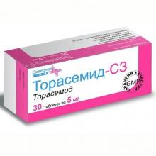 Торасемид-СЗ таблетки 5 мг , 30 шт.