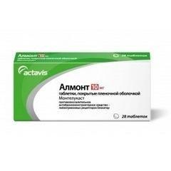Алмонт таблетки 10 мг, 28 шт.