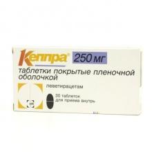 Кеппра таблетки 250 мг, 30 шт.