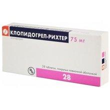 Клопидогрел-Рихтер таблетки 75 мг, 28 шт.