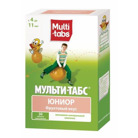 Мульти-табс Юниор таблетки жевательные фрукты, 30 шт.