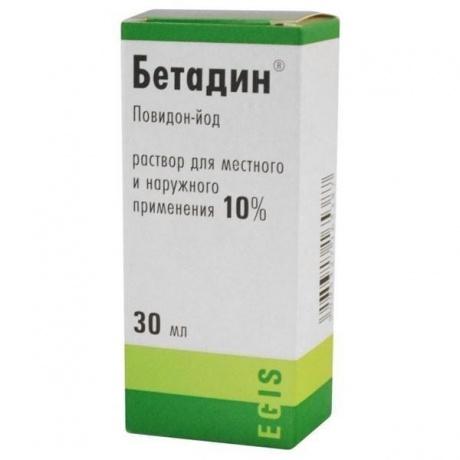 Бетадин раствор 10%, 30 мл