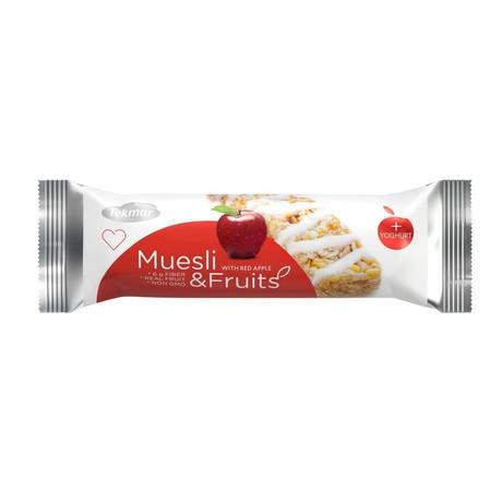 Батончики мюсли TEKMAR йогурт-красное яблоко, 25 г