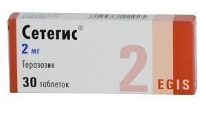 Сетегис таблетки 2 мг, 30 шт.