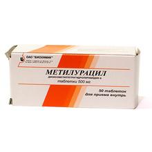 Метилурацил таблетки 500 мг, 50 шт.