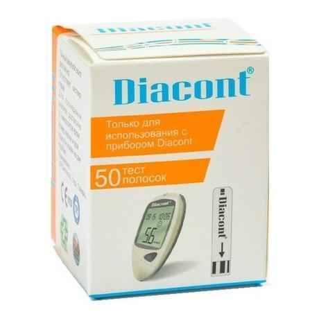 Тест-полоска DIACONT, 50 шт.
