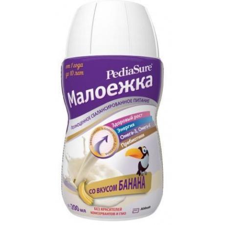 ПедиаШур Малоежка спец. продукт с пищевыми волокнами Банан, 200 мл