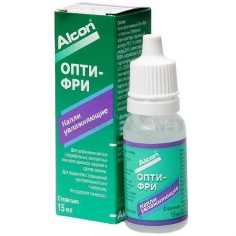 Капли для контактных линз увлажняющие OPTI-FREE 15мл