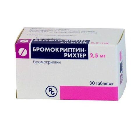 Бромокриптин-Рихтер таблетки 2,5мг, 30 шт.