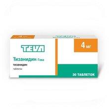 Тизанидин-Тева таблетки 4 мг, 30 шт.