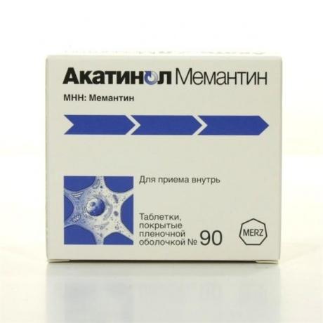 Акатинол Мемантин таблетки 10 мг, 90 шт.