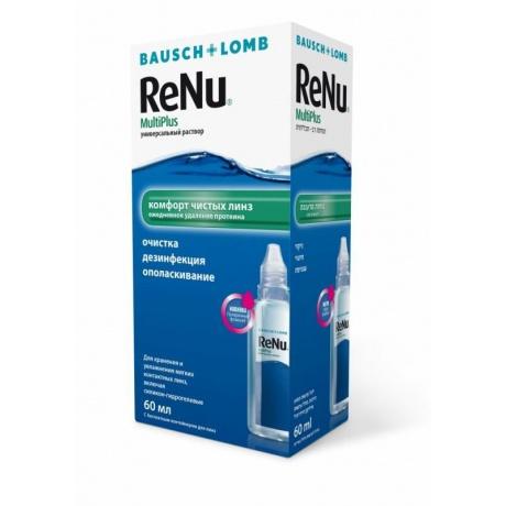 Раствор для контактных линз RENU Multi Plus, 60 мл