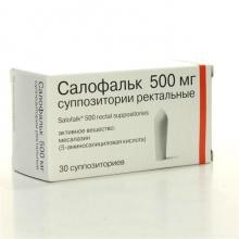 Салофальк свечи ректальные 500 мг, 30 шт.