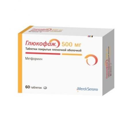 Глюкофаж таблетки 500мг, 60шт