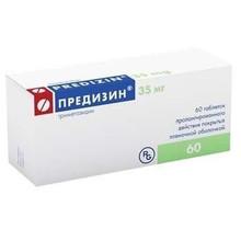 Предизин таблетки пролонгированного действия 35 мг, 60 шт.