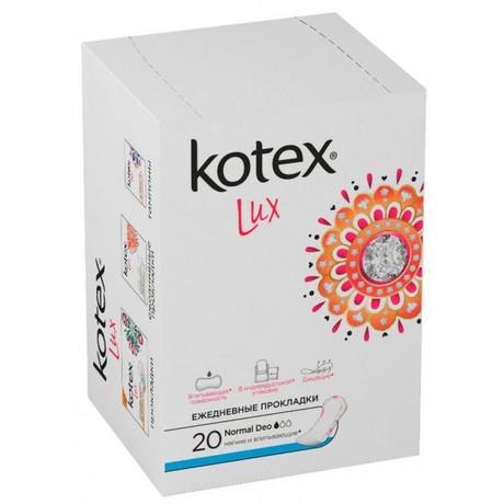 Прокладки гигиенические KOTEX Lux супертонкие, 20 шт.