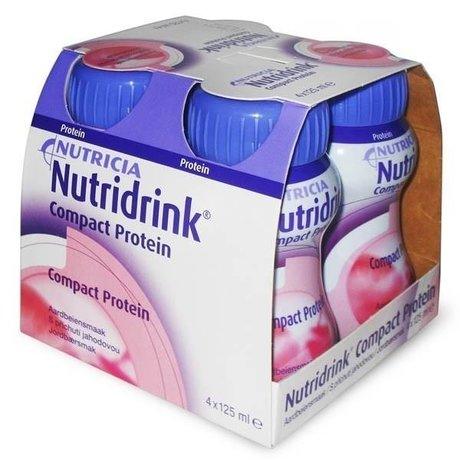 Смесь питательная НУТРИДРИНК Compact Protein клубника для энтерального питания 125мл, 4 шт.