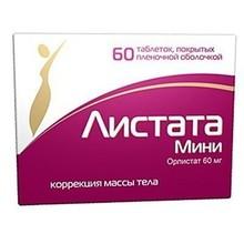 Листата мини таблетки 60 мг, 30 шт.