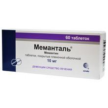 Меманталь таблетки 10 мг, 60 шт.
