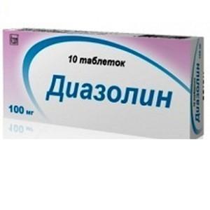 Диазолин таблетки 100мг, 10 шт.