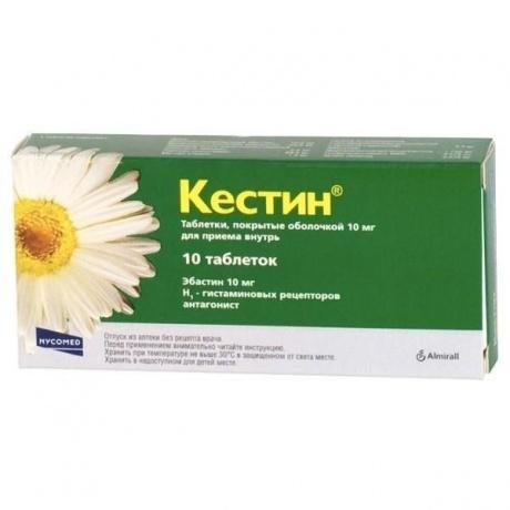 Кестин таблетки 10 мг, 10 шт.