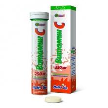 Витамин С таблетки шипучие 250 мг, 20 шт.