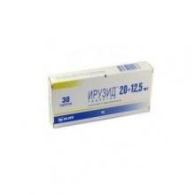 Ирузид таблетки 20 мг+12,5 мг, 30 шт.