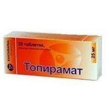 Топирамат таблетки 25 мг, 28 шт.