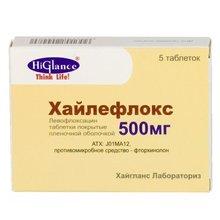 Хайлефлокс таблетки 500 мг, 5 шт.