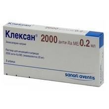 Клексан шприцы 20 мг, 0,2 мл, 10 шт.