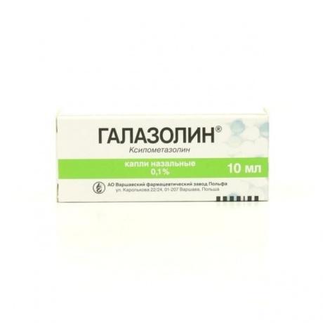 Галазолин капли в нос 0,1% , 10 мл