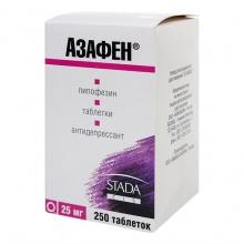 Азафен таблетки 25 мг, 250 шт.