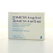 Зомета флакон (концентрированный для приготовления раствора для инфузий) 4 мг/5 мл, 1шт.