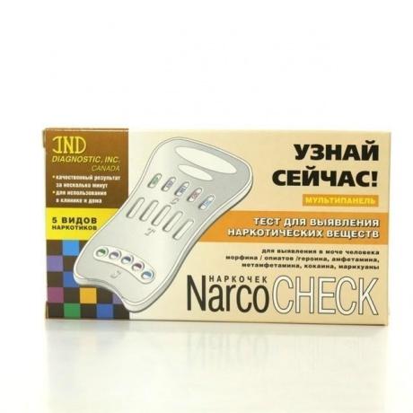 Тест диагностический Narcocheck MULTI для выявления 5 видов наркотиков
