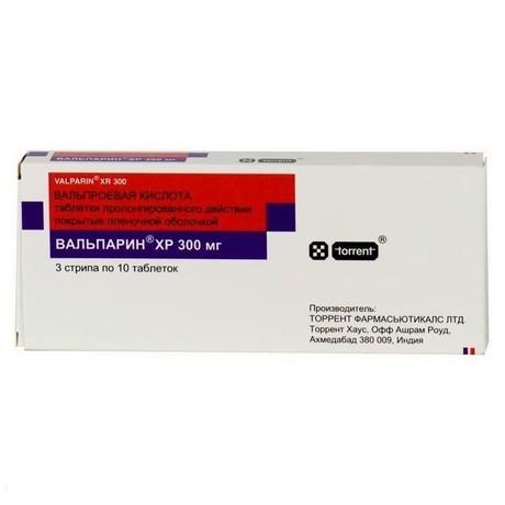 Вальпарин ХР таблетки ретард 300 мг, 100 шт.