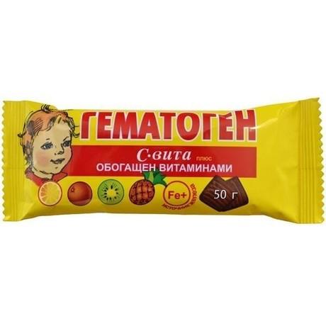 Гематоген С плитка 50 г