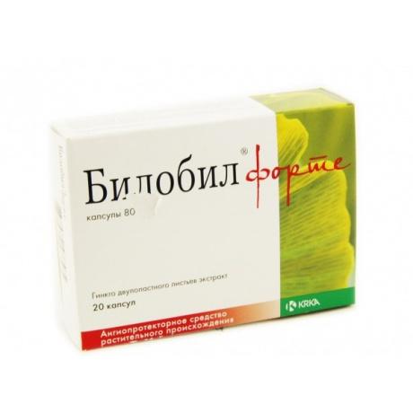 Билобил форте капсулы 80 мг, 20 шт.