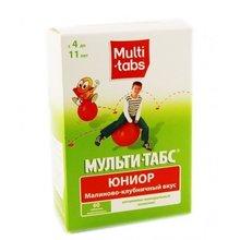Мульти-табс Юниор таблетки жевательные малина-клубника, 60 шт.