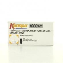 Кеппра таблетки 1000мг, 30 шт.