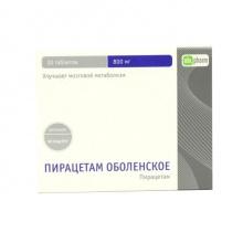 Пирацетам Оболенское таблетки 800 мг, 30 шт. (15x2)