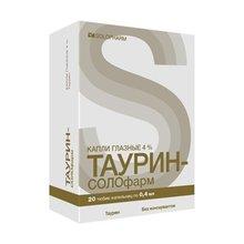 Таурин Солофарм тюбик-капельница (капли глазные) 4% 4мл, 20 шт.
