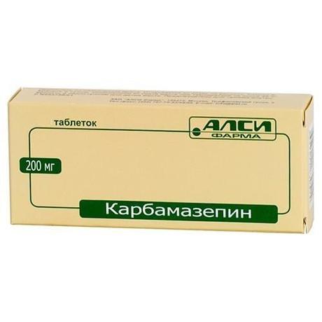 Карбамазепин таблетки 200 мг, 40 шт.
